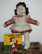 Vintage Little Lulu Doll Handmade From Mccalls 1940and039s Pattern 1447 Plus Book