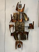 Brutalist Wall Clock Midcentury-modern By William Vose Unsigned