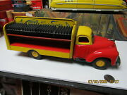 Studebaker Castle Spring Soda Tin Friction Truck 1950's With 4 Cases Rare