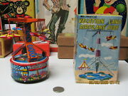 Vacation Land Airplane Ride Wind Up Vintage Toy In Box New Old Stock Japan 50s