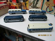 Tootsietoy Greyhound Bus Collection Of 5 Toys Diecast 40s-50s All Exc- Near Mint