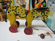 Maude Kicking Donkey All Fair Toys 1926 Wooden Pull Toy Complete Near Mint Works