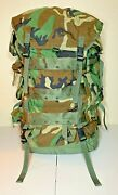 Us Military Large Field Pack With Internal Frame Woodland Camouflage Mint