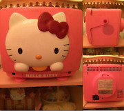 Sanrio Hello Kitty Crt Color Tv 14inch 30th 1989 Pink Only 3000 Rare Lmt Japan