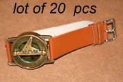 Collectible Antique Steampunk Brass Wrist Compass And Sundial-watch Style Good Gft