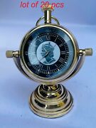 Vintage Nautical Victoria 1875 Brass Beautiful Clock Table Top Decor With Stand