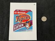 Very Rare Topps 2016 Wacky Packages Mlb Baseball 5x7 Card Detroit Tigers 53 Cat