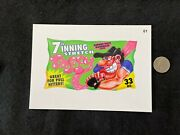 Very Rare Topps 2016 Wacky Packages Mlb Baseball 5x7 Card 7th Inning Stretch 61
