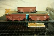 Set Of 3 Athearn 2-bay Hoppers Milw, Dandh, Tandno 102209
