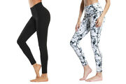 Ns Activewear Compression Workout High Waist Ankle Length Leggings Black Marble
