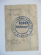 Asperg Post-ww2 Displaced Person Camp - 0.50 Rm Note/chit C.3902 Vf 1947