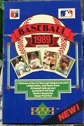 1989 Upper Deck Baseball Low Number Series 36 Pack Box First Year Of Issue Fresh