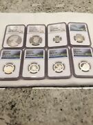 2012 Us Mint Limited Edition Silver Proof 8-coin Set Ngc Pf69 And Pf68