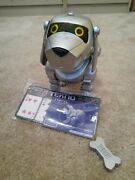 Silver Tekno The Robotic Puppy Dog Bone And Manual Battery Compartment Stained