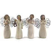 Willow Tree Lot Of 4 With Affection Just For You Angel Of Hope Sign Of Love