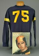 Spectacular 1940s Navy Midshipmen Game Used Football Jersey Worn 75 Ben Chase
