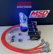 Haltech Smart Coils Ign-1a And Msd Red 90 Deg Plug Wires And Bracket Mazda 13b Kit