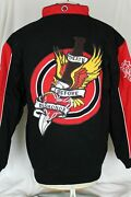 Menand039s Blue Axes Racing Coat Death Before Dishonor Black Red Size 2x Nwt 149