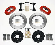 Wilwood Narrow Superlite 6r Front Hat Kit 14.00in Red For Mitsubishi Evo Viii -