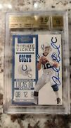 2012 Contenders Andrew Luck Rookie Ticket Variation Auto 201 Sp /75 Bgs 9.5 /10