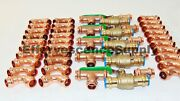 Lot Of 45 1-1/2 Propress Copper Fittings.tees Elbows Coupling Press Ball V