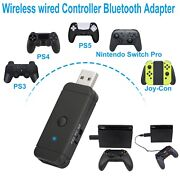 Bluetooth Adapter Audio Transmitter Wireless Wired Contreoller For Ps5/ Ps4/ Ps3