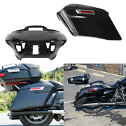 Abs Inner Outer Fairing And 4 Extended Saddlebags Fit For Harley Road Glide 15-21