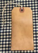 50 Large Coffee Stained Primitive Antique Store Price Gift Hang Tags Lot Rustic