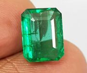 3.61 Ct Natural Rare Rich Green Colombian Emerald Excellent Quality Untreated