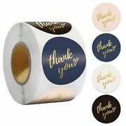 500pcs Thank You Sticker Round Seal Foil Paper Decoration Gift Labels Stationery