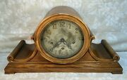 Antique Charles Jacques Mantel Clock Runs 7 Wire Gong Chime And Strike Unit Runs