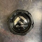 Fuel Gloss Black / White Script Custom Wheel Center Cap 1003-50b