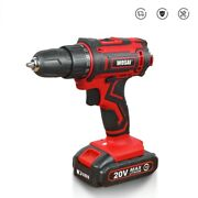 Cordless Drill Electric 20v Screwdriver Wireless Driver Dc 2 Speed Power Tools