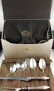 Flatware Set Silverplate Jamestown Holmes And Edwards 1916 In Case Extras 61 Piece