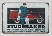 Wall Hanging 1929 Studebaker Delivery Cars And Trucks Metal Tin Sign