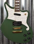 Dand039angelico Deluxe Bedford Offset Army Green Guitar And Case 0630