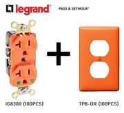 100pcs Lot Passandseymour Ig8300 Isolated Ground Receptacle 20a + Wall Plate Tp8or