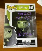 Debi Durst Signed Nightmare Before Christmas Witch 599 Funko Pop - Bas Y29565