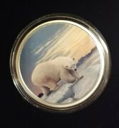 2018 30 Fine Silver Coin Artic Animals And Northern Lights Polar Bear