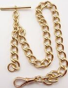 Antique Heavy 9ct Yellow Gold Pocket Watch Albert Guard Chain 13 Inch 53.8 Grams
