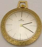 Vintage 18 Carat Yellow Gold Gents Dress Fob Watch. Swiss Hy Moser Working Order