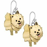 Pomeranian Dog Earrings Sterling Silver And Mixed Metals Handmade By Artisans
