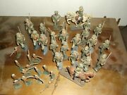 Lineol Elasto Vintage German Toy Soldiers Lot Lead Composition