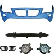 Set Kit Bumper Front Primed For Bmw X1 E84 Year 09-12+ Carrier+ Grill +