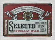 Home Furnishing Stores Selecto Perfection Brew Beer Metal Tin Sign