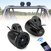 Heavy Duty Bluetooth Speakers Stereo Audio Amp System For Utv Polaris Rzr Can Am