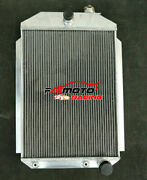 Aluminum Radiator Fit For Chevy Hot/street Rod 350 V8 W/tranny Cooler 1937 At 37