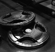 Set Of 2 45 Lb Rubber Coated Weight Plates Olympic / 2