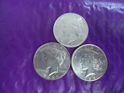 1923-1924-1925 Peace Silver Dollars From Original Uncirculated Rolls