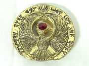 Indiana Jones Ra Headpiece Red Jewels Gold Metal Signed Numbered Edition